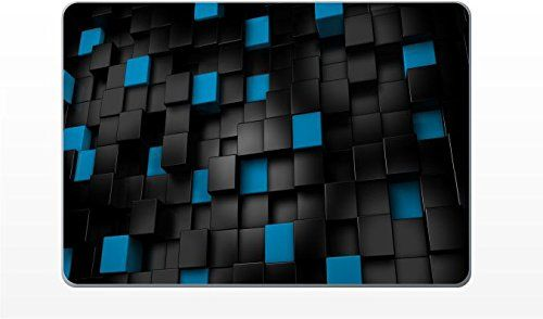 Macbook Pro 13 Inch Black And Blue Cubes Removable Vinyl Skin Decal