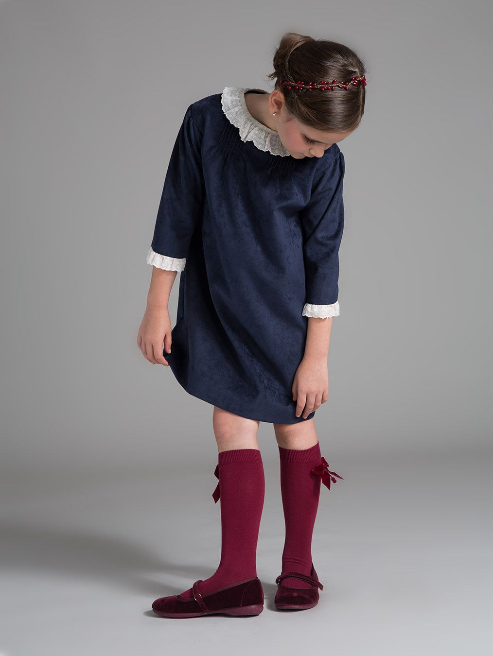 Velvet mod party dress feminine dress plays and child