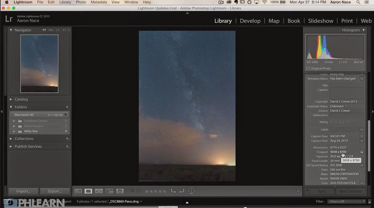 How To Make A Panorama In Lightroom 6 By Phlearn Lightroom Adobe Photoshop Lightroom Photoshop Lightroom