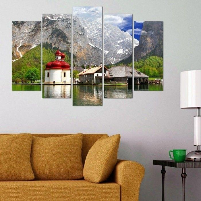 wandbilder wanddeko wohnzimmer landschaft selbermachen Pinterest - wandbild für wohnzimmer