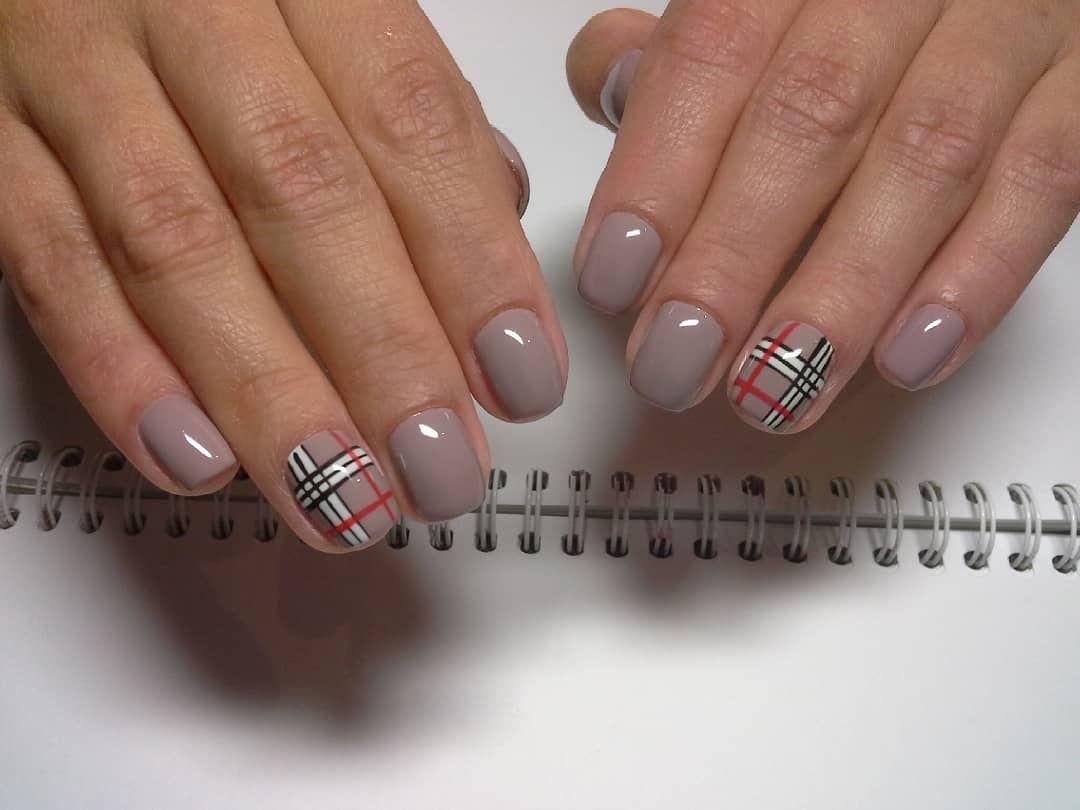 TOP 23 Burberry print design nails | Burberry print design ...