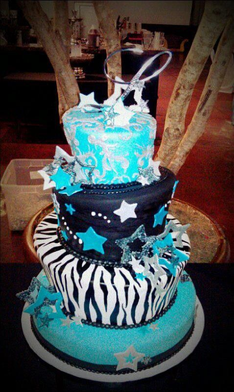Sweet 15 birthday cake Teenage and Adult Cakes Pinterest 15th