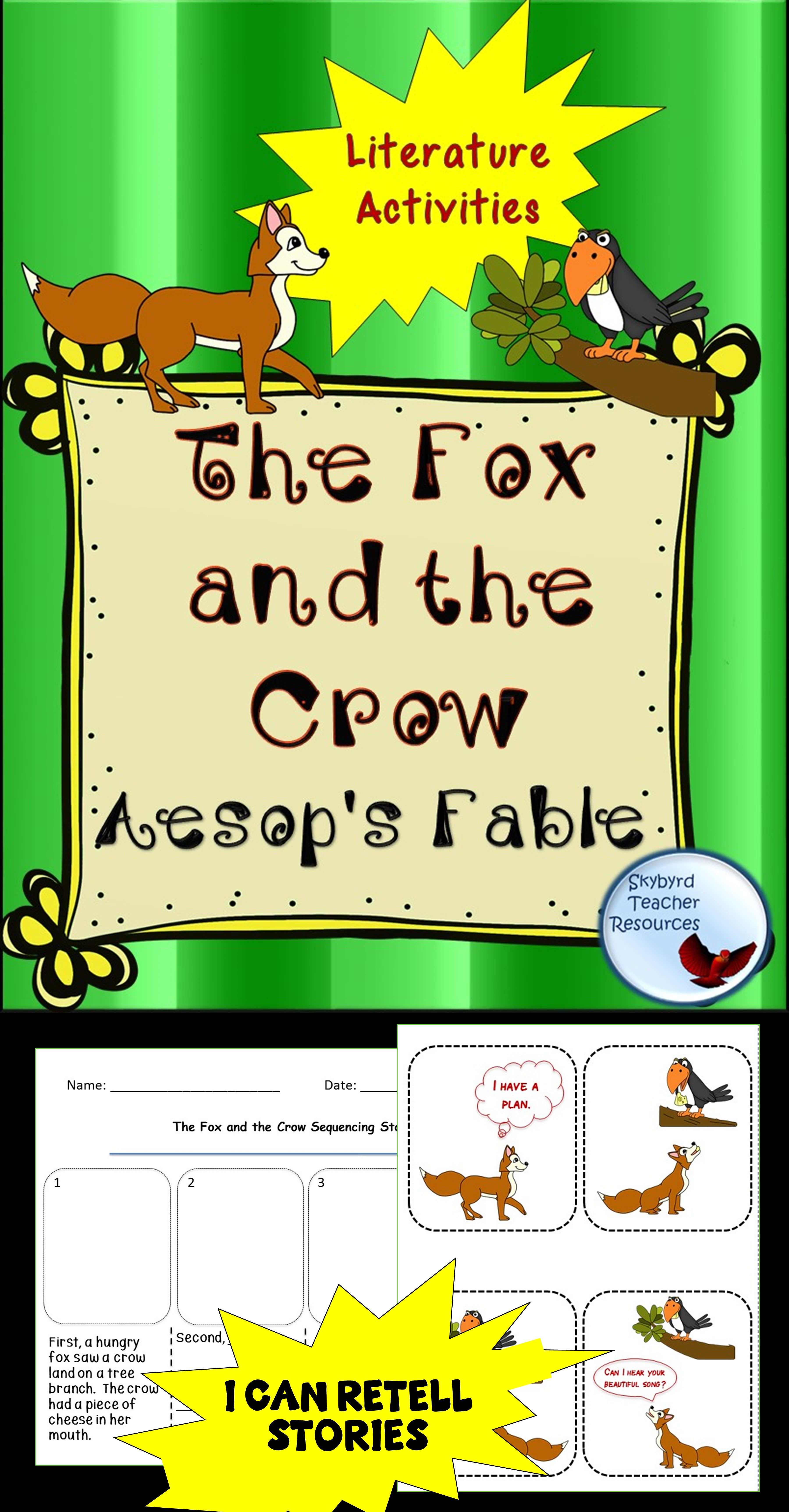 The Fox And The Crow Aesop S Fable Reading Comprehension Passage Amp Activities