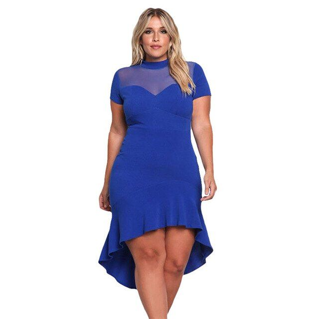 Photo of Black Plus Size Party Midi Women Dress | nubboo.com