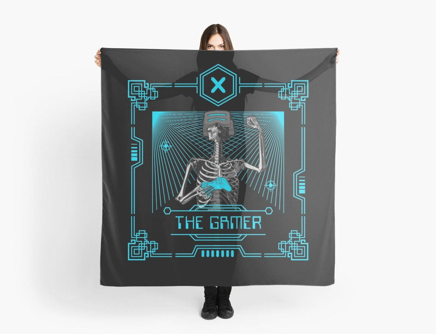 The gamer x tarot card scarf by grandeduc tarot tarot