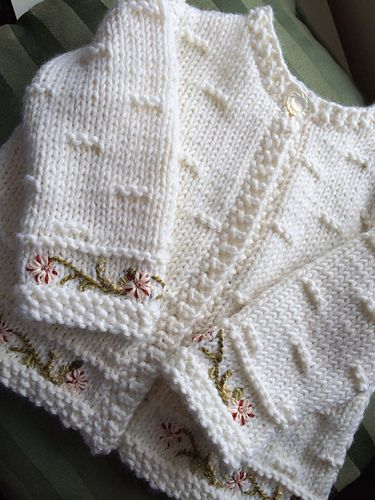 Ravelry: luluknitty's Embroidered Baby Sweater | Baby
