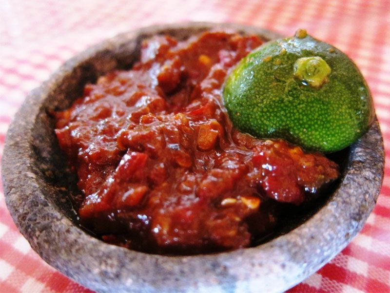Sambal Terasi The Hottest Food In The World Indonesian Cullinary