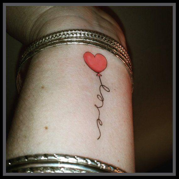fake tattoo heart balloon love tattoo temporary heart tattoo