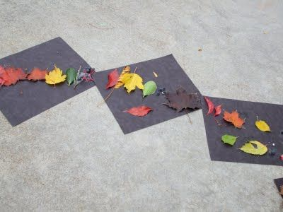 fun activity to teach about autumn and rainbows