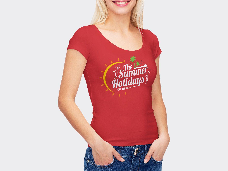Download Free Smart Girl Wearing T Shirt Mockup Free Mockup Clothing Mockup Shirt Mockup Smart Girls