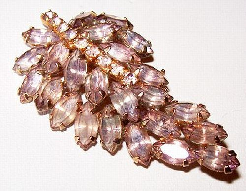 Rhinestone Brooch Pin Lilac Lavender Color by BrightgemsTreasures, $24.50