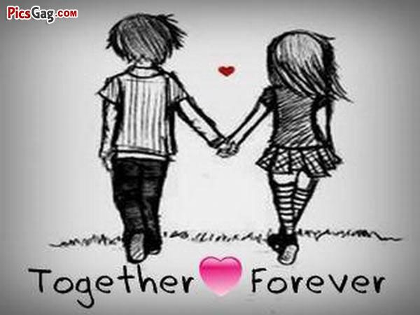Forever Love Together Forever Cute Couple Cartoon Cute Couple