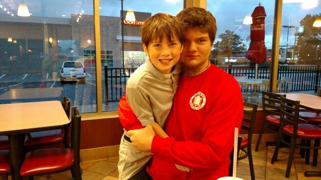 Our last Chick Fila breakfast before school.  Pictured with his little buddy Evan.