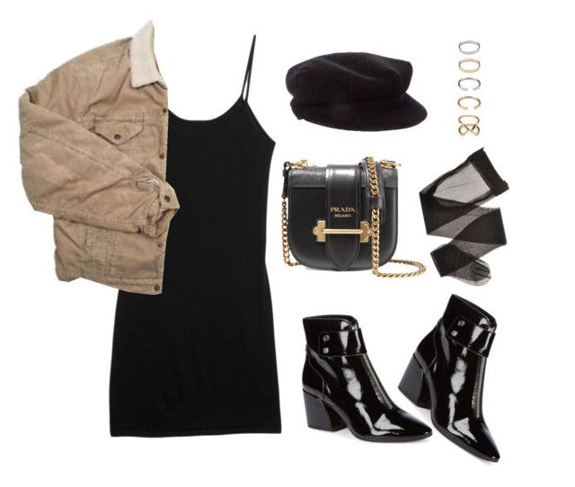 """""""Untitled #5569"""" by lilaclynn ❤ liked on Polyvore featuring rag & bone, Burberry, Levi's, Dolce Vita, Prada, Forever 21, forever21, ragandbone and dolcevita"""