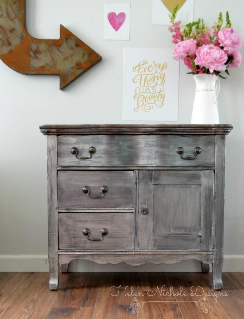 Champagne Pearl Effects Washstand | General Finishes Design Center