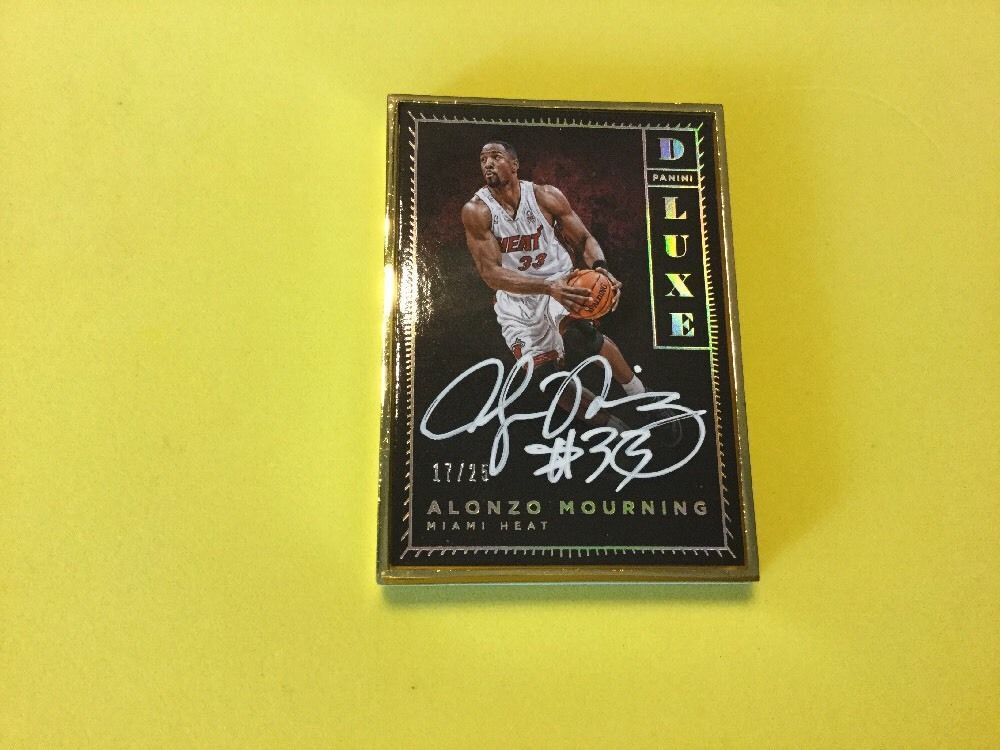 201516 panini luxe gold 1725 alonzo mourning auto
