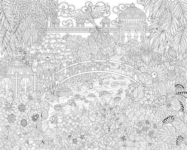 Marica Zottino Coloring Book Pinterest Jardines A Pintar