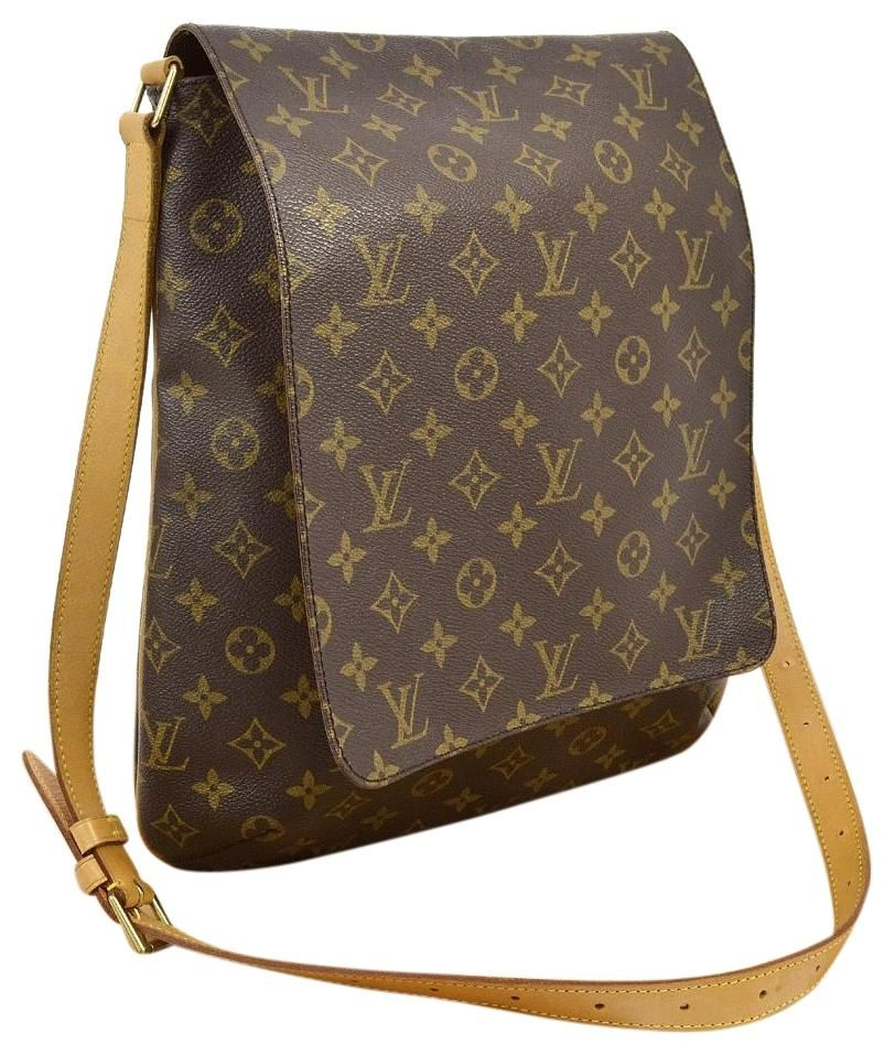 0290154f759b Louis Vuitton Musette Salsa Gm Sl1011 Extra Large And Dust Brown Monogram  Cross…