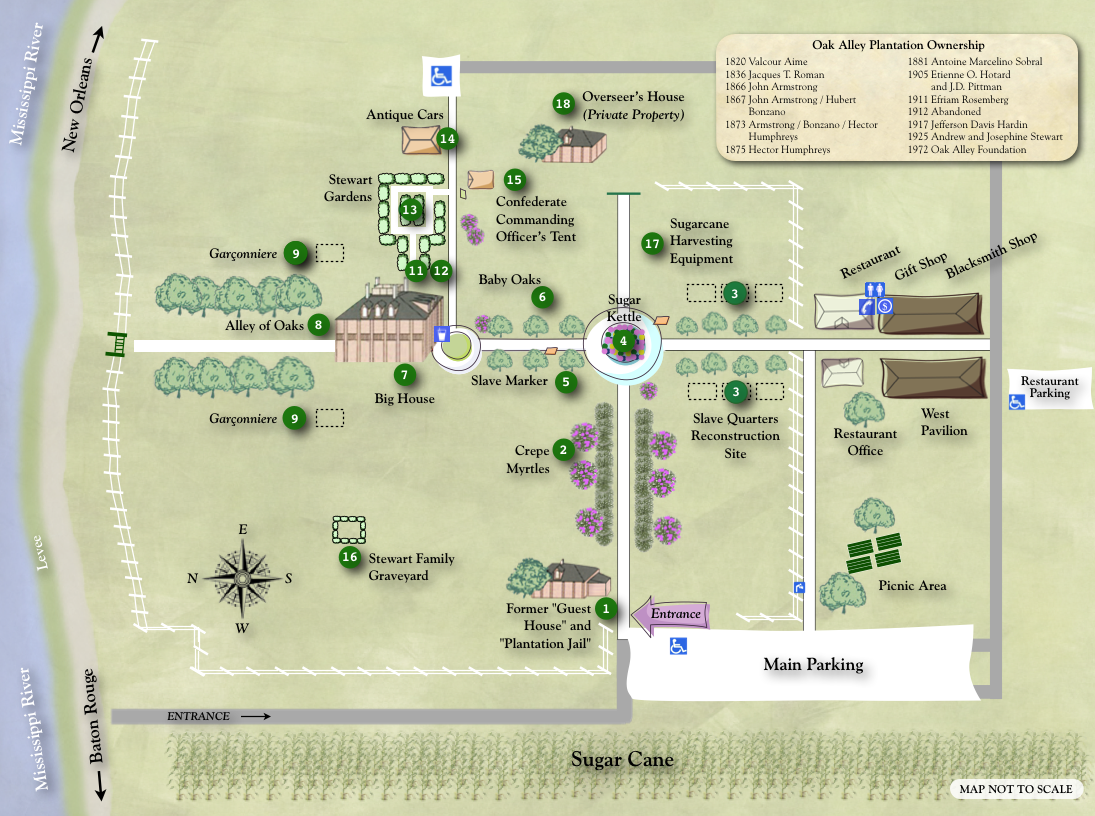 Oak Alley Grounds Map So Much To See And To Do All