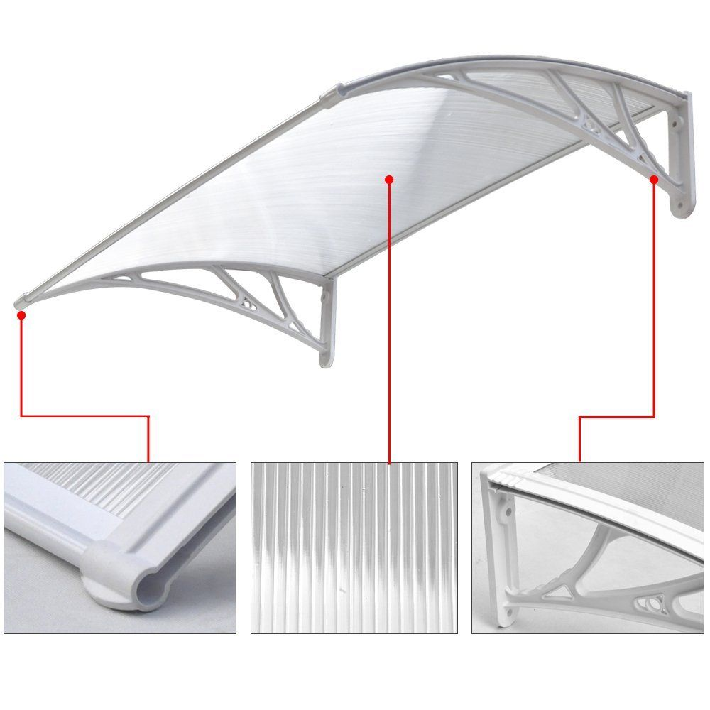 Chinkyboo Door/window Canopy Front Back Awning Porch Sun Shade Shelter  Outdoor Patio Rain Cover