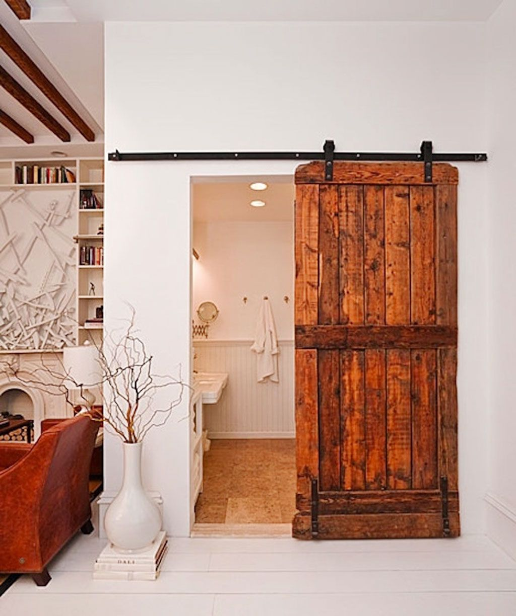 Small Half Bathroom Ideas 008 Photo Small Half Bathroom Ideas 008 Close Up View Rustic Doors Interior Barn Doors Sliding Bathroom Barn Door