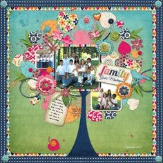 family tree scrapbook page idea 4 or more scrapbook pages