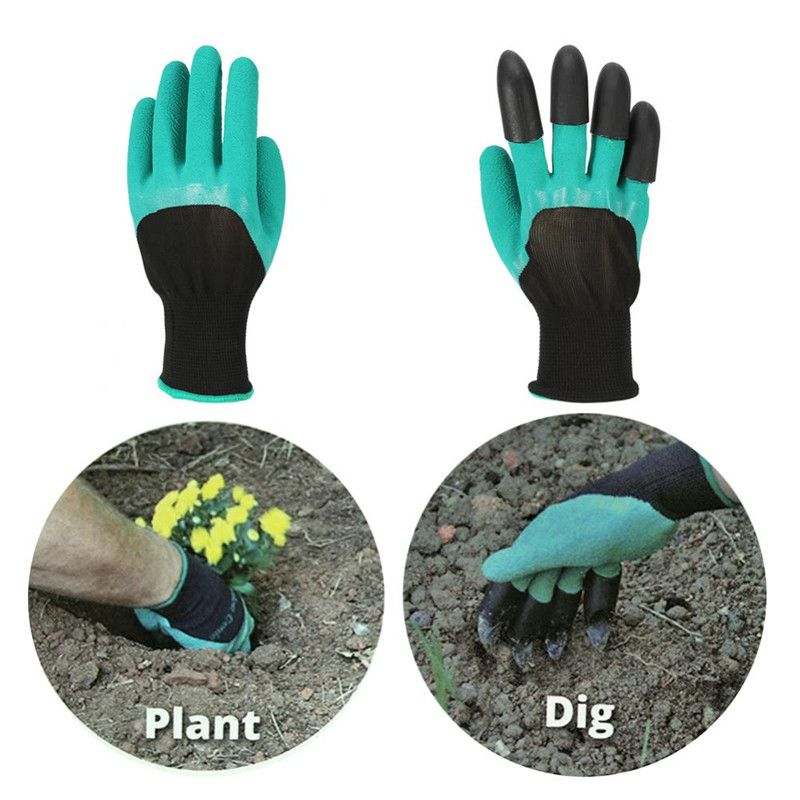 Recomeneded Qiilu 4 Pairs Garden Gloves Hand Claws Gardening