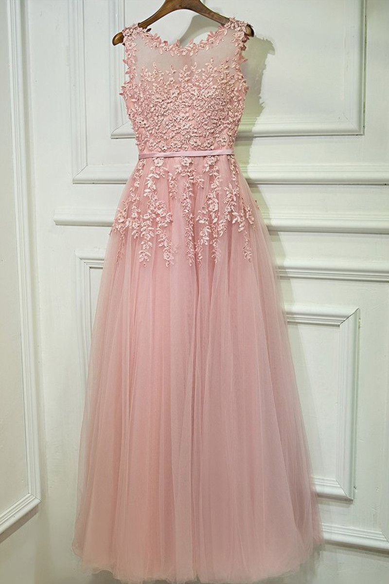 Gorgeous pink prom dresses for teens graduation formal party