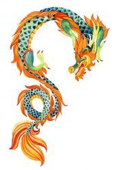 , Chinese Dragon. Traditional symbol of dragon. Watercolor hand painted illustration. poster  Plakat des chinesischen Drachen. Traditionelles Symbol des…, My Tattoo Blog 2020, My Tattoo Blog 2020
