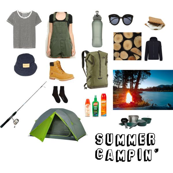 Camping by mialwrnc on Polyvore featuring art