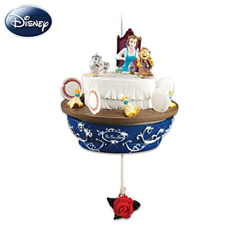 Disney Beauty And The Beast Christmas Ornament: Be Our Guest  Belle Be Our Guest Ornament