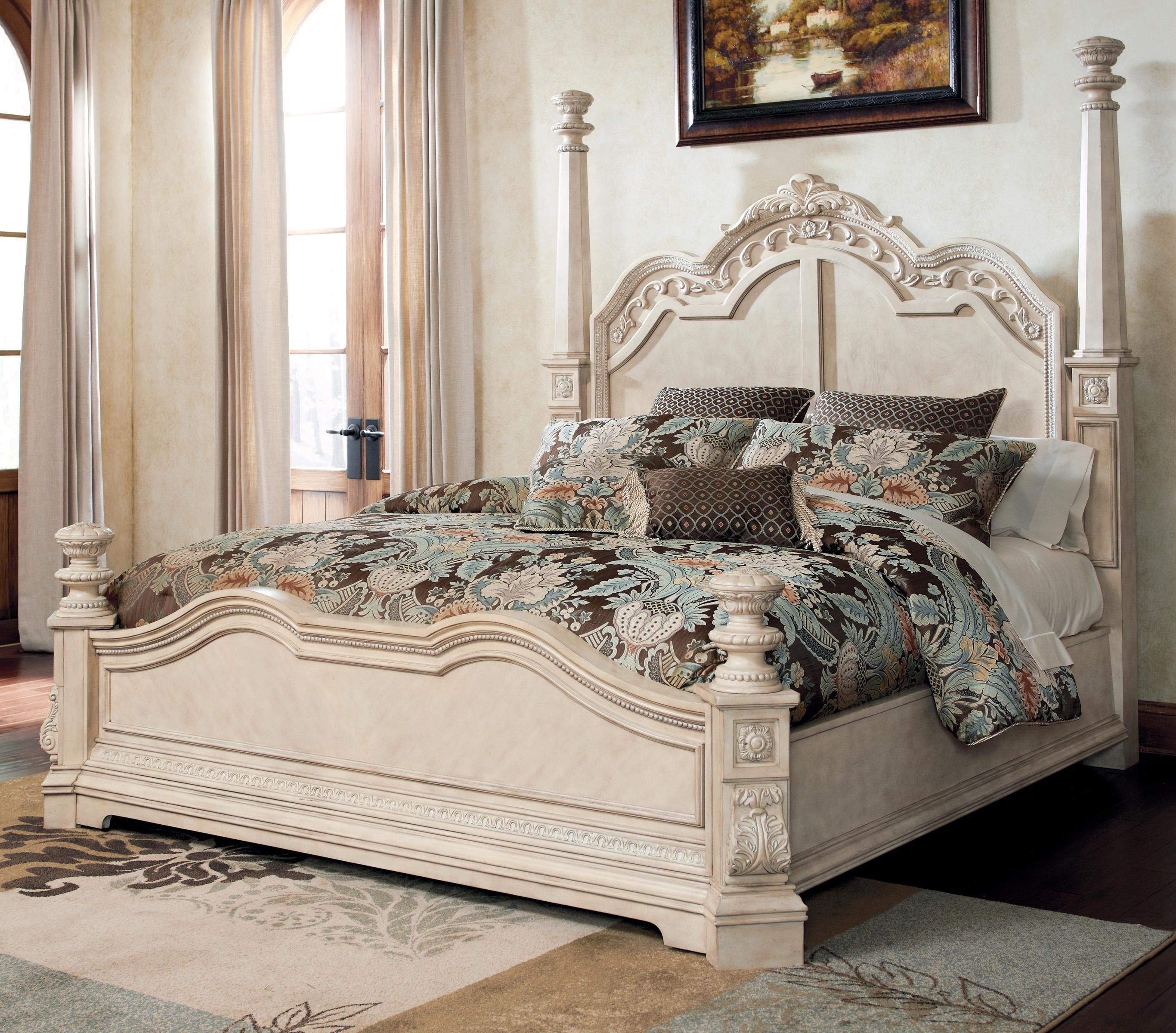 Best Ortanique Traditional King Poster Bed By Ashley Millennium 640 x 480