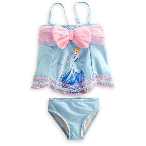 8a223b16fe Cinderella Deluxe Swimsuit for Girls | Swimwear | Disney Store ...