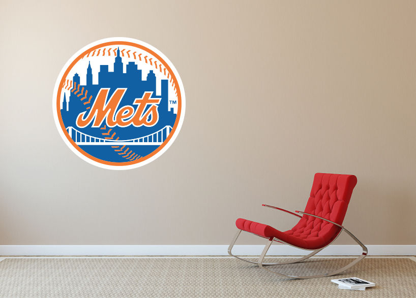 new york mets mlb team logo vinyl decal sticker wall decal sa246