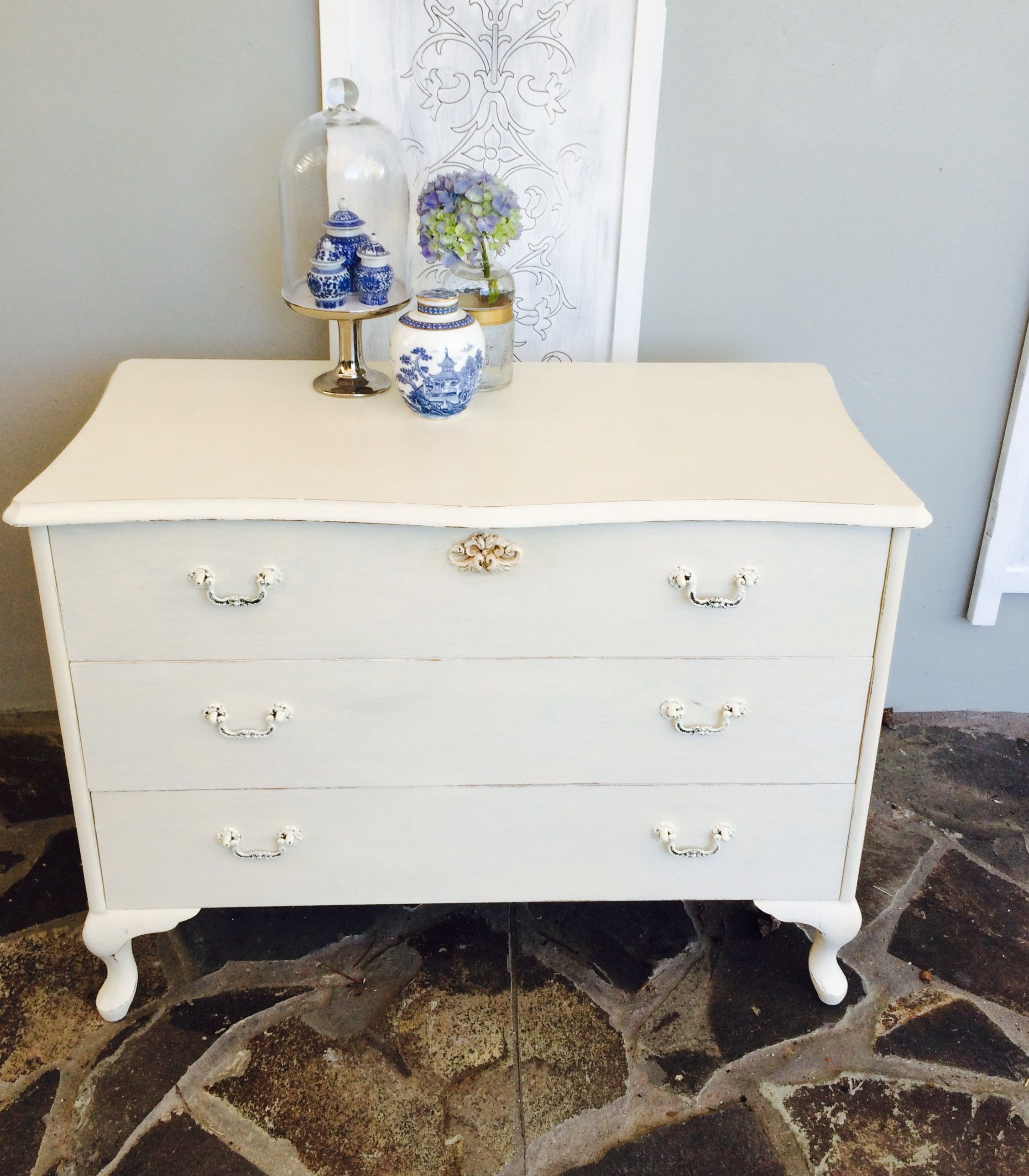 Queen Anne Drawers Painted In Annie Sloan Chalk Paint, Old