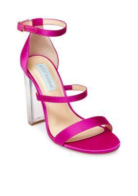 Blue By Betsey Johnson Women's Dafne Block Heel Sandal - Raspberry - 8.5M