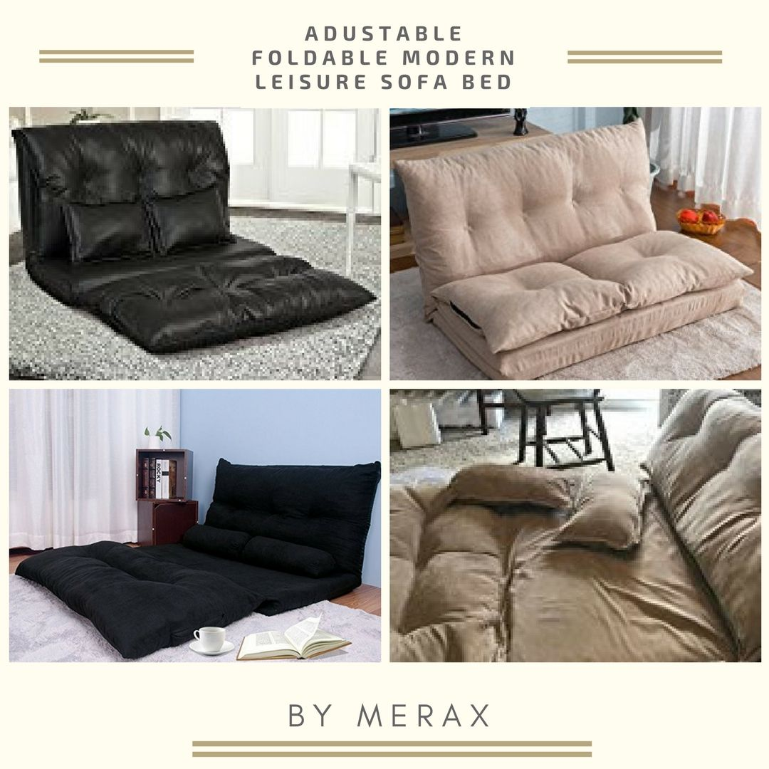 Relaxing Foldable Lazy Sofa Bed With Pillow Stylish Comfortable