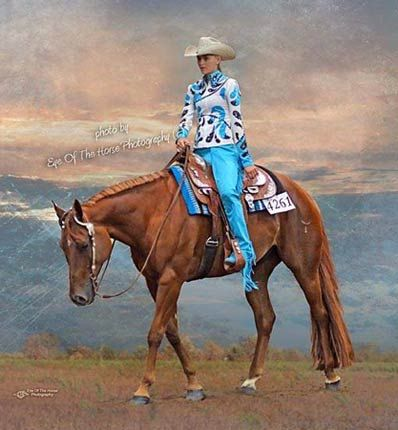 Beautiful Blue Western Pleasure Outfit Show Clothes For