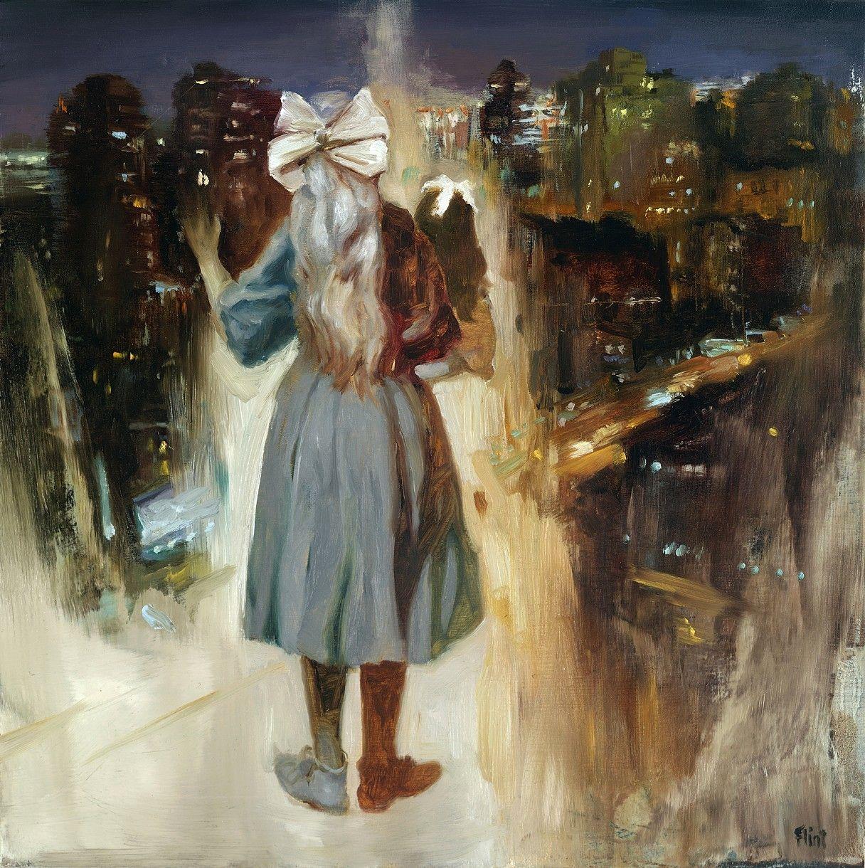 Joshua Flint 10 x10 oil painting Dollhouse III | Fig URE