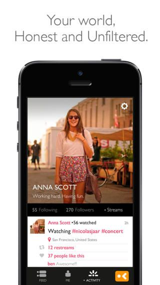 Yevvo Real time video for social networks, twitter