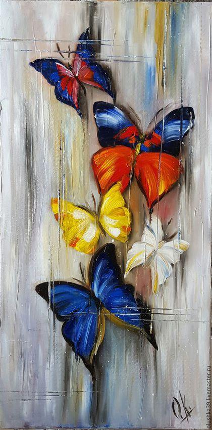 Papillons Tableau Salon En 2019 Pinterest Acquerello Arte