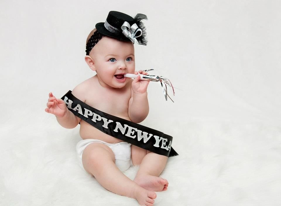 Baby New Year Alishaleigh Photography Baby New Year Baby Calendar Happy New Year Baby