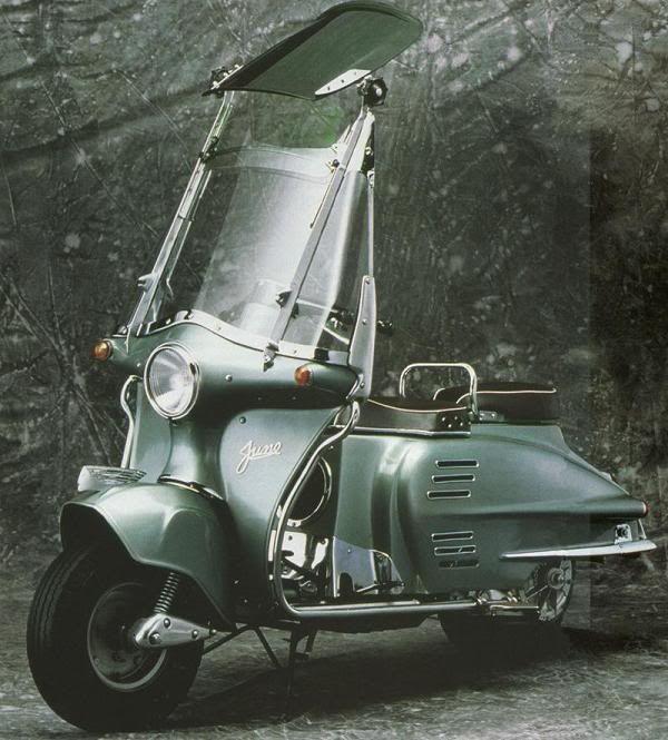 The Honda Juno KType Retro scooter, Vespa scooters