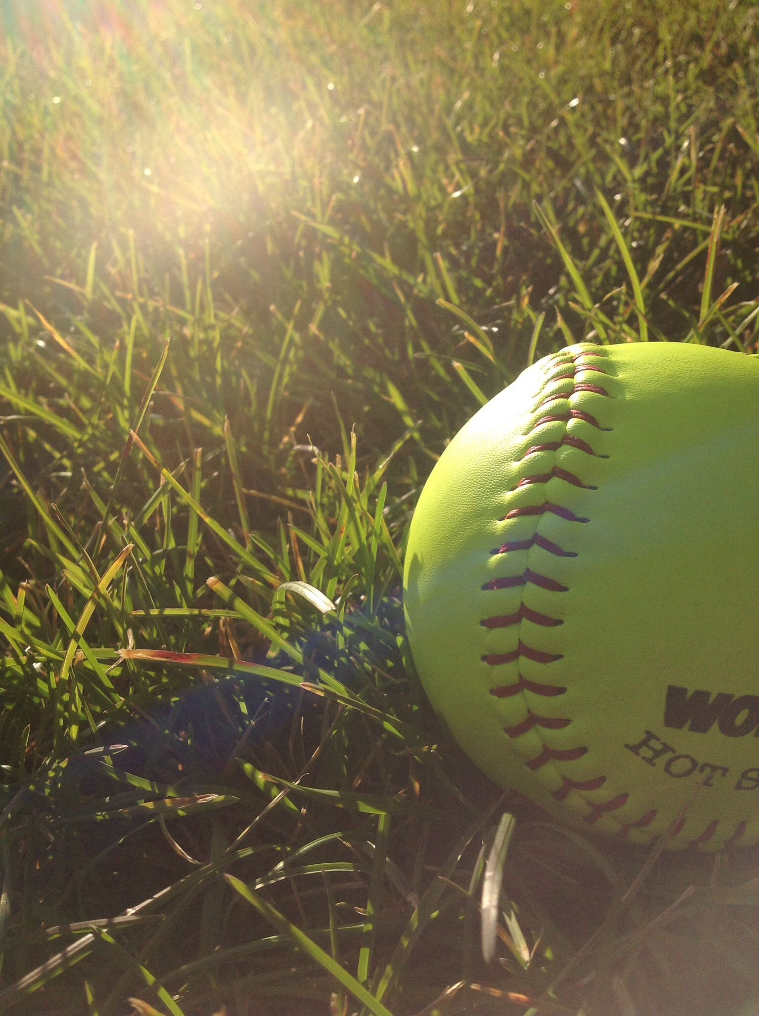 To You It S A Softball To Me It S A Threaded Yellow Gift From God Softball Yellow Gifts Baseball Bat