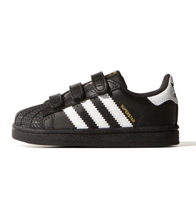 Adidas Superstar Foundation CF I Toddler Black/White, Kids Footwear,  www.oishi