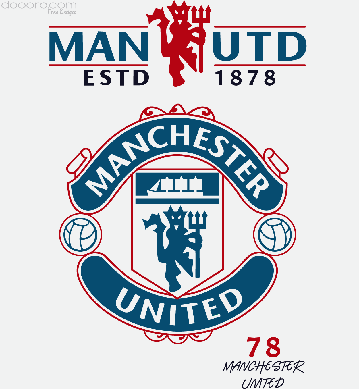 Manchester United Vector Design Free Vector Design