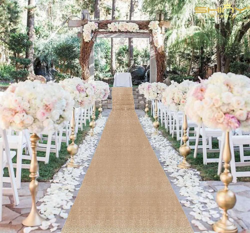 For Your Elegant Walk Down The Aisle Choose From A Stunning Selection Of Personalized Aisle Runners Aisle In 2020 Aisle Runner Wedding Romantic Backyard Event Decor