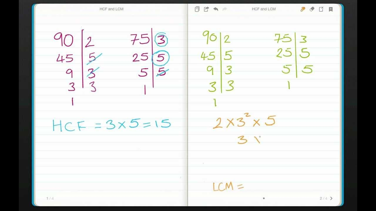 Finding The Hcf And Lcm Of Two Numbers By Hand Youtube Lowest Common Factor Common Factors Common Multiples [ 720 x 1280 Pixel ]