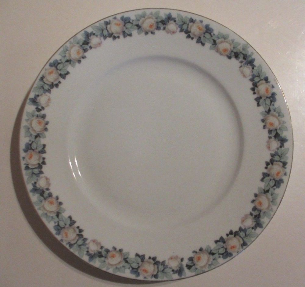 Edelstein Bavaria China Dinner Plate Gold Trim White Blue Floral Pattern #7629 : dinner plate patterns - pezcame.com
