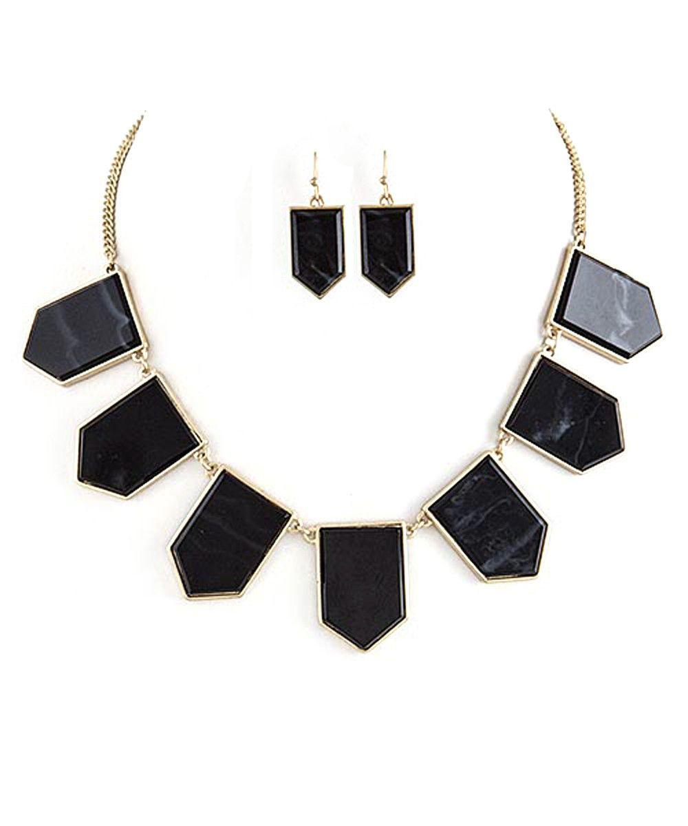 Aztec arrow necklace u earrings set not so basic black pinterest